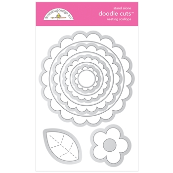 Doodlebug NESTING SCALLOPS Stand Alone Doodle Cuts Die Set 6738