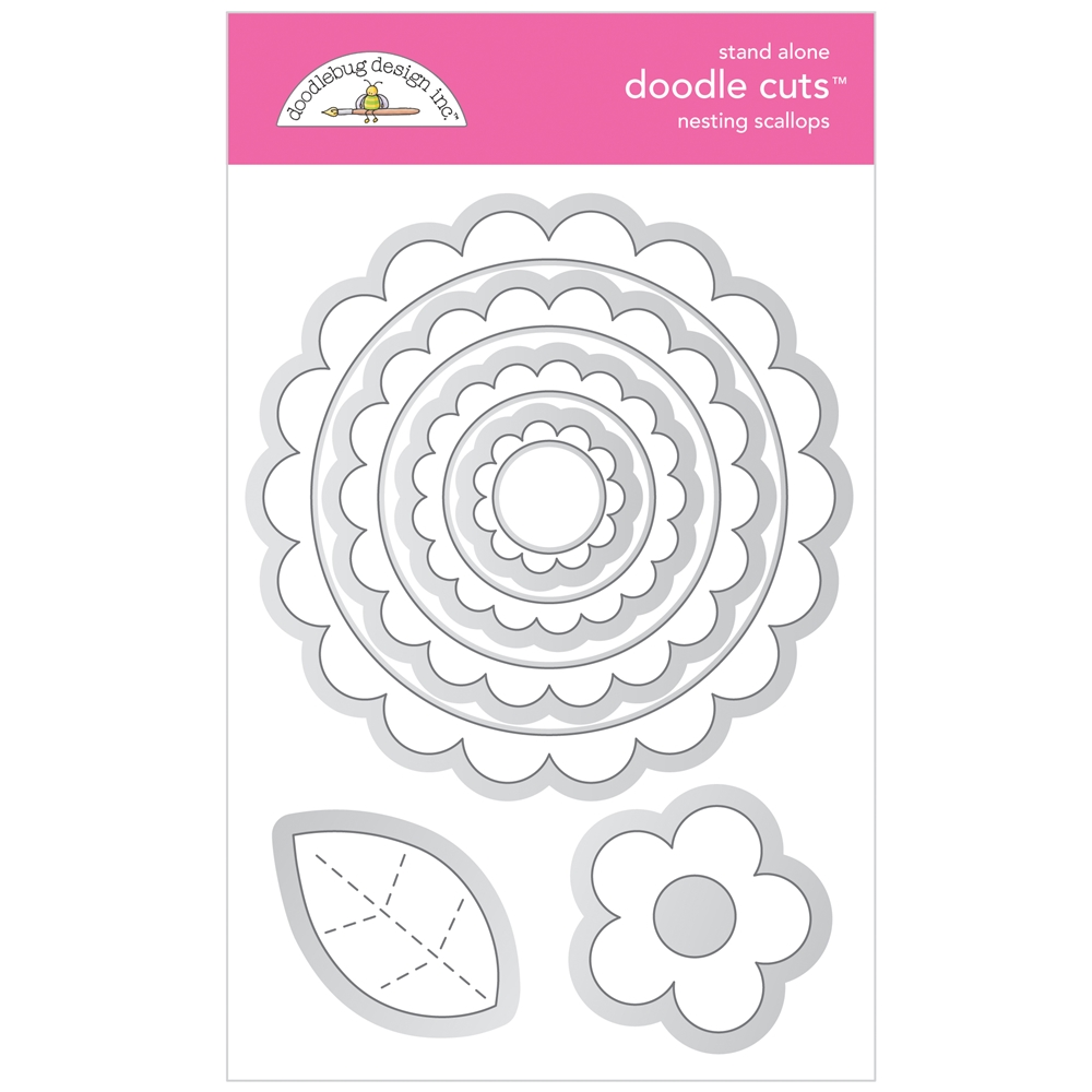 Doodlebug NESTING SCALLOPS Stand Alone Doodle Cuts Die Set 6738 zoom image