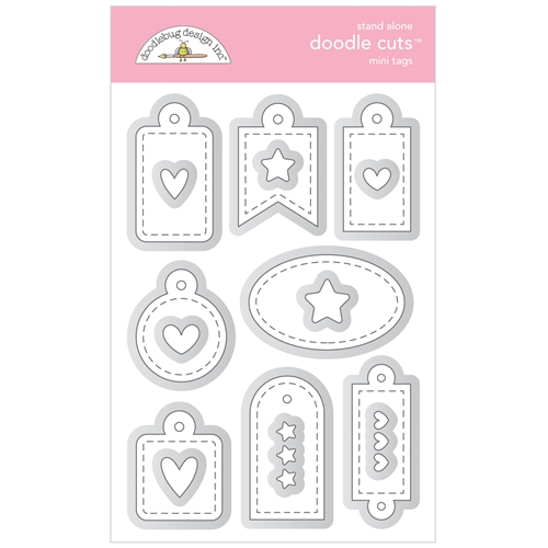 Doodlebug MINI TAGS Stand Alone Doodle Cuts Die Sets 6737 Preview Image