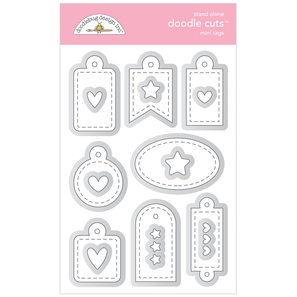 Doodlebug MINI TAGS Stand Alone Doodle Cuts Die Sets 6737 zoom image