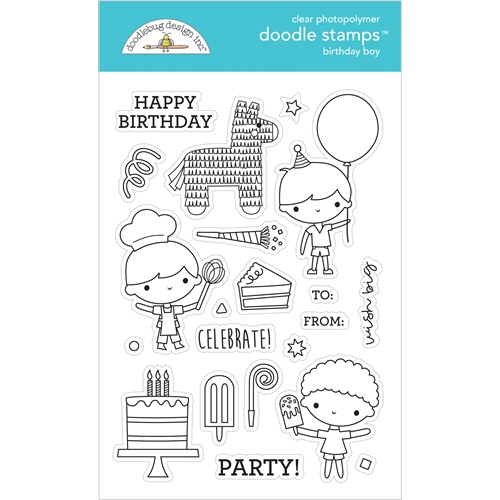 Doodlebug BIRTHDAY BOY Doodle Clear Stamps 6650 Preview Image