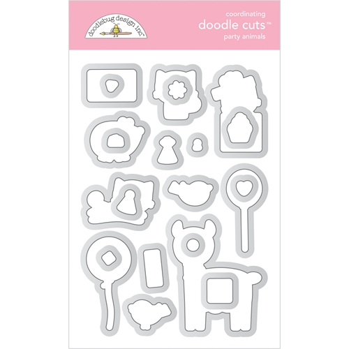 Doodlebug PARTY ANIMALS Coordinating Doodle Cuts Die Set 6649 Preview Image