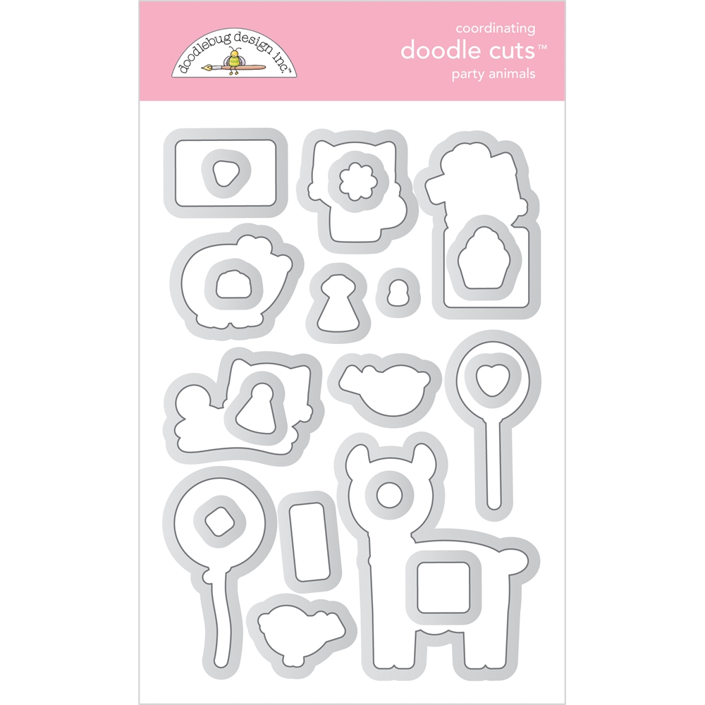 Doodlebug PARTY ANIMALS Coordinating Doodle Cuts Die Set 6649 zoom image