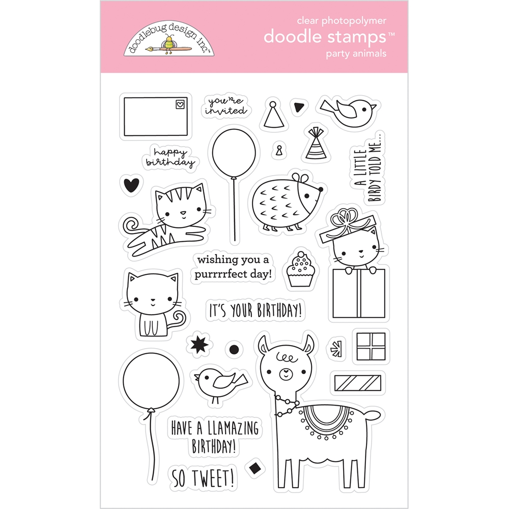 Doodlebug PARTY ANIMALS Doodle Clear Stamps 6648 zoom image
