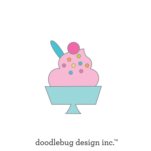 Doodlebug SWEET SUNDAE Collectable Enamel Pin 6654 Preview Image