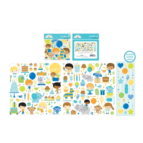 Doodlebug PARTY TIME ODDS AND ENDS Die Cut Shapes 6658 Preview Image