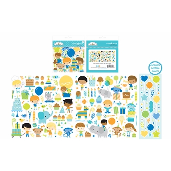 Doodlebug PARTY TIME ODDS AND ENDS Die Cut Shapes 6658