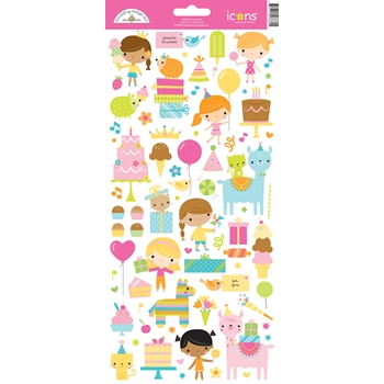 Doodlebug HEY CUPCAKE Icons Cardstock Stickers 6660