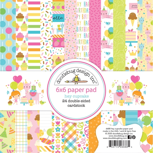 Doodlebug HEY CUPCAKE 6x6 Inch Paper Pad 6688 Preview Image
