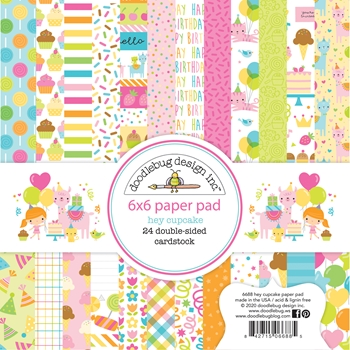 Doodlebug HEY CUPCAKE 6x6 Inch Paper Pad 6688