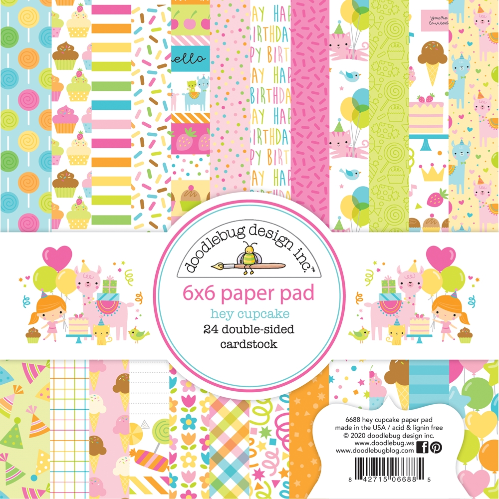 Doodlebug HEY CUPCAKE 6x6 Inch Paper Pad 6688 zoom image
