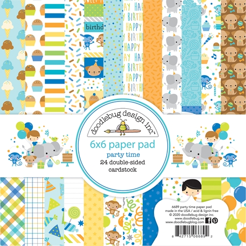 Doodlebug PARTY TIME 6x6 Inch Paper Pad 6689 Preview Image
