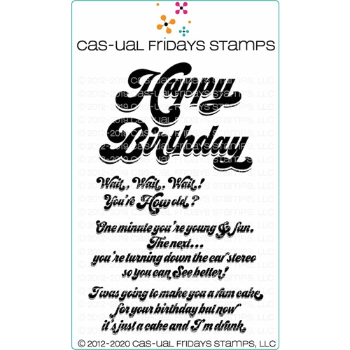 CAS-ual Fridays HAPPY BIRTHDAY Clear Stamps cfs2002 Preview Image