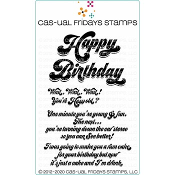 CAS-ual Fridays HAPPY BIRTHDAY Clear Stamps cfs2002