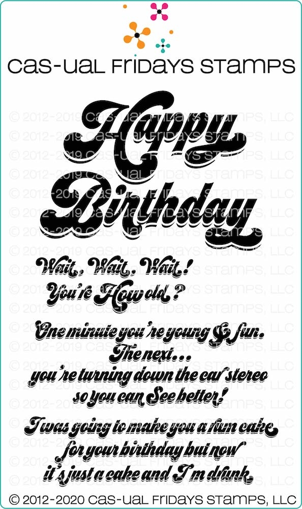 CAS-ual Fridays HAPPY BIRTHDAY Clear Stamps cfs2002 zoom image