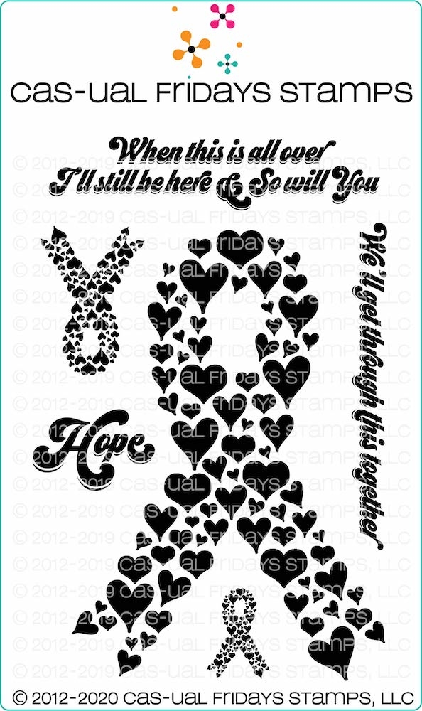 CAS-ual Fridays HEART RIBBON Clear Stamps cfs2006 zoom image