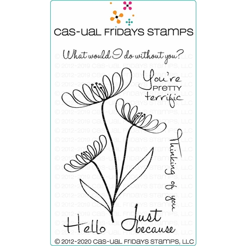 CAS-ual Fridays TERRIFIC FLOWERS Clear Stamps cfs2004* Preview Image