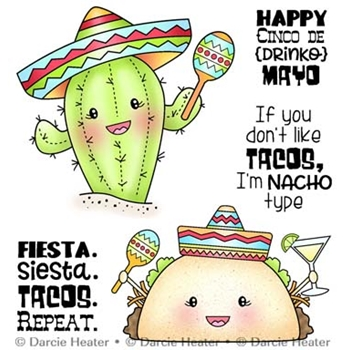 Darcie's NACHO TYPE Clear Stamp Set pol457
