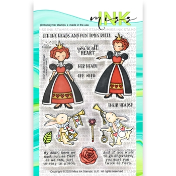 Miss Ink Stamps QUEEN OF HEARTS Clear Set 320st01
