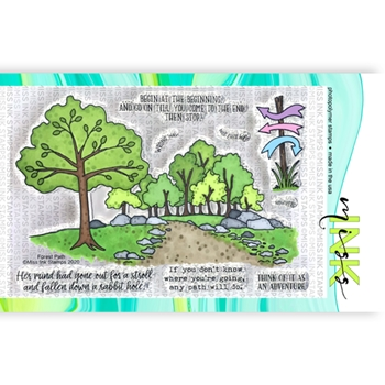 Miss Ink Stamps FOREST PATH Clear Set 320st03