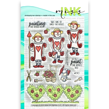 Miss Ink Stamps PAINTING THE ROSES Clear Set 320st06