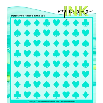 Miss Ink Stamps PICK A CARD Stencil 320t02