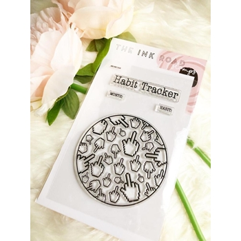 The Ink Road HABIT TRACKER MIDDLE FINGER Clear Stamp Set inkr149