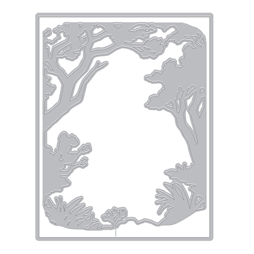 Hero Arts Fancy Die NATURE BORDER WITH FRAME DI759 Preview Image