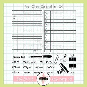 Sweet 'N Sassy YOUR STORY Clear Stamp Set sns20015*