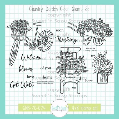 Sweet 'N Sassy COUNTRY GARDEN Clear Stamp Set sns20024* Preview Image