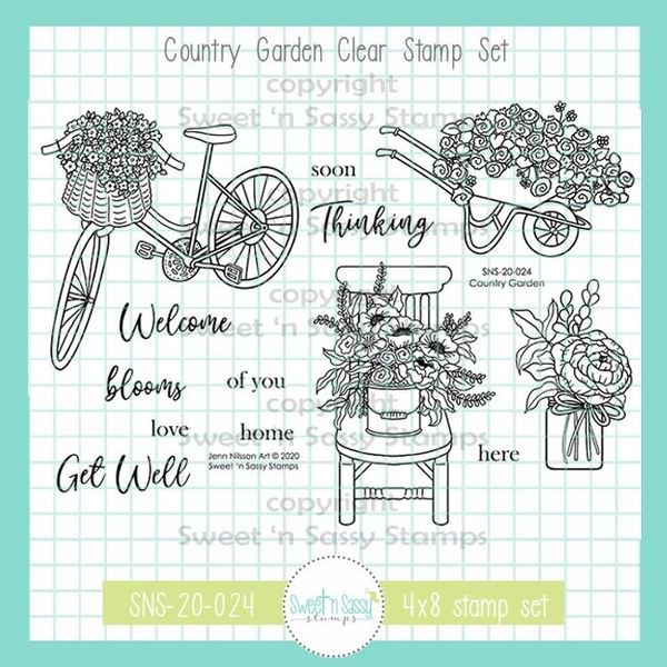 Sweet 'N Sassy COUNTRY GARDEN Clear Stamp Set sns20024* zoom image