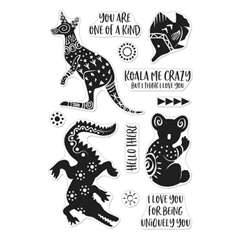 Hero Arts Clear Stamps PATTERNED ANIMALS CM450