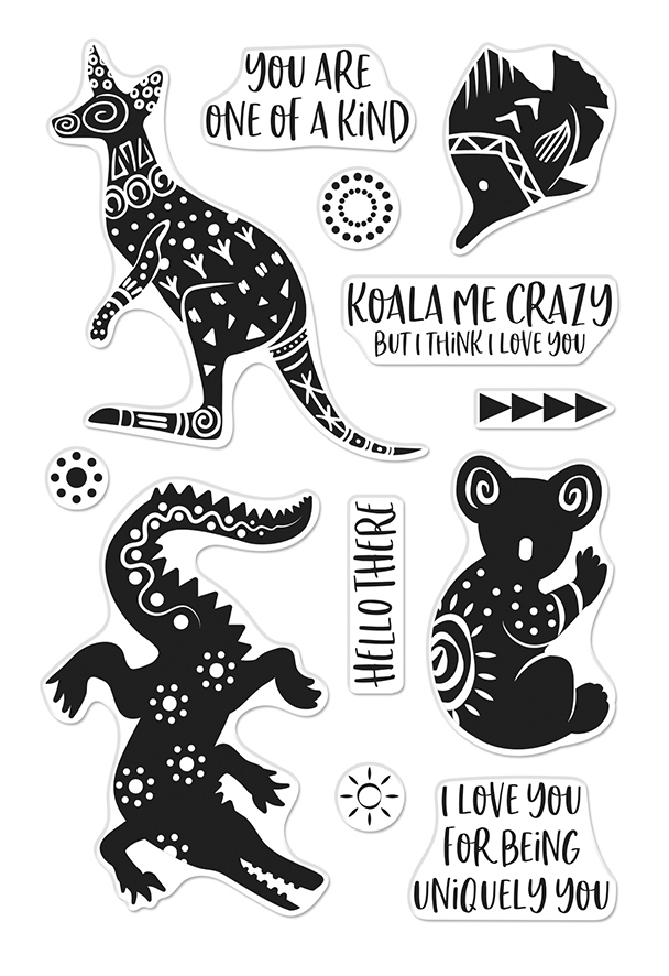 Hero Arts Clear Stamps PATTERNED ANIMALS CM450 zoom image