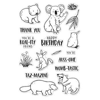 Hero Arts Clear Stamps BANDICOOT AND FRIENDS CM449
