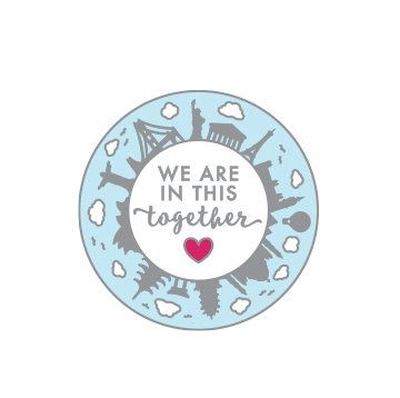 Hero Arts WE ARE IN THIS TOGETHER Enamel Pin CH330 zoom image