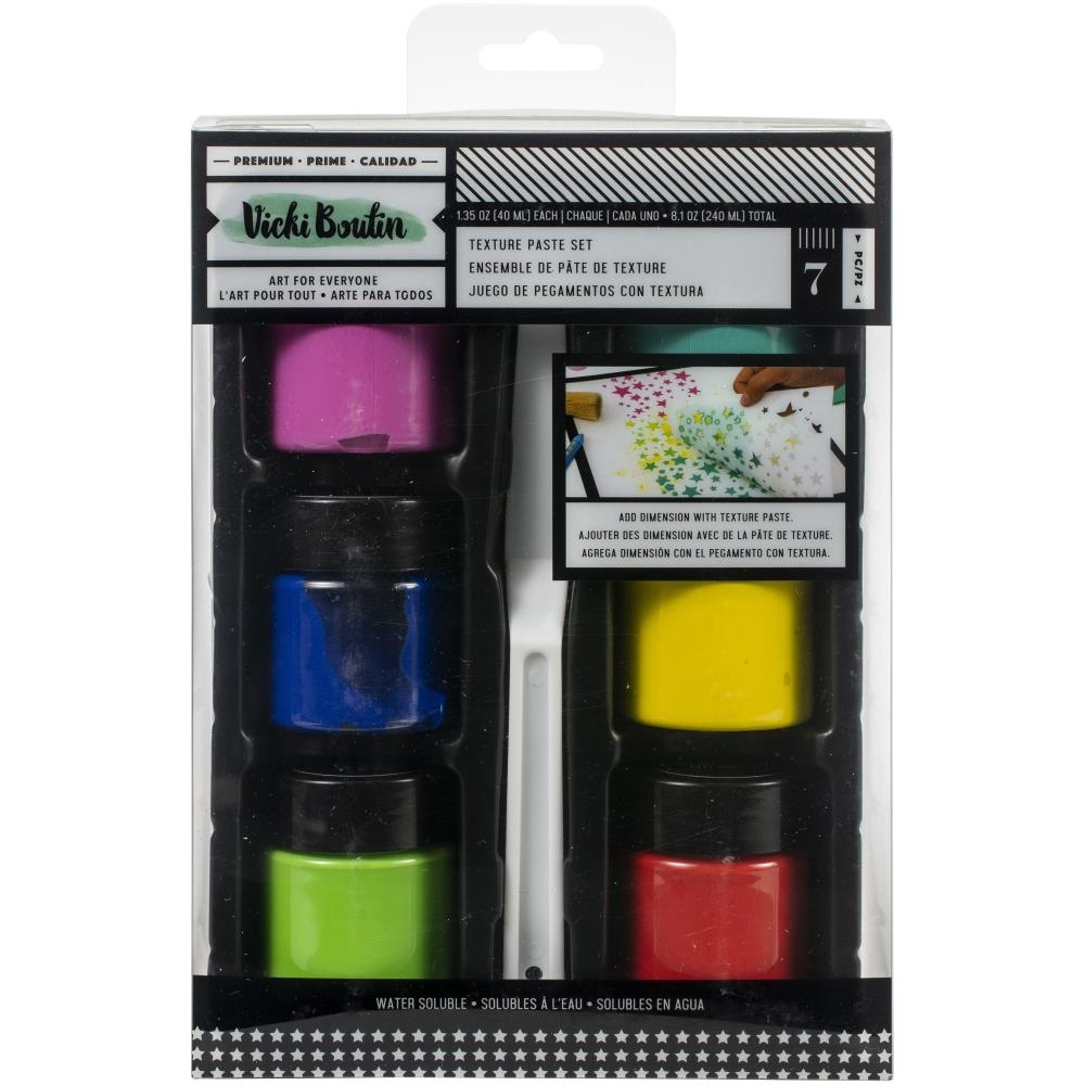 American Crafts Vicki Boutin Let's Wander Mixed Media TEXTURE PASTE Set 355342 zoom image