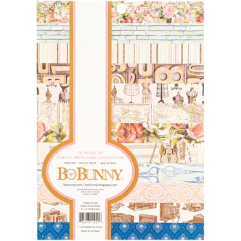 BoBunny FAMILY HEIRLOOMS COLLECTION 6 x 8 inch Paper Pad 7311020
