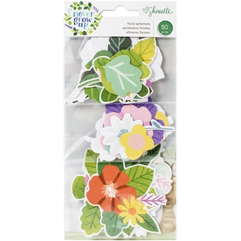 American Crafts Shimelle FLORAL EPHEMERA NEVER GROW UP 356183