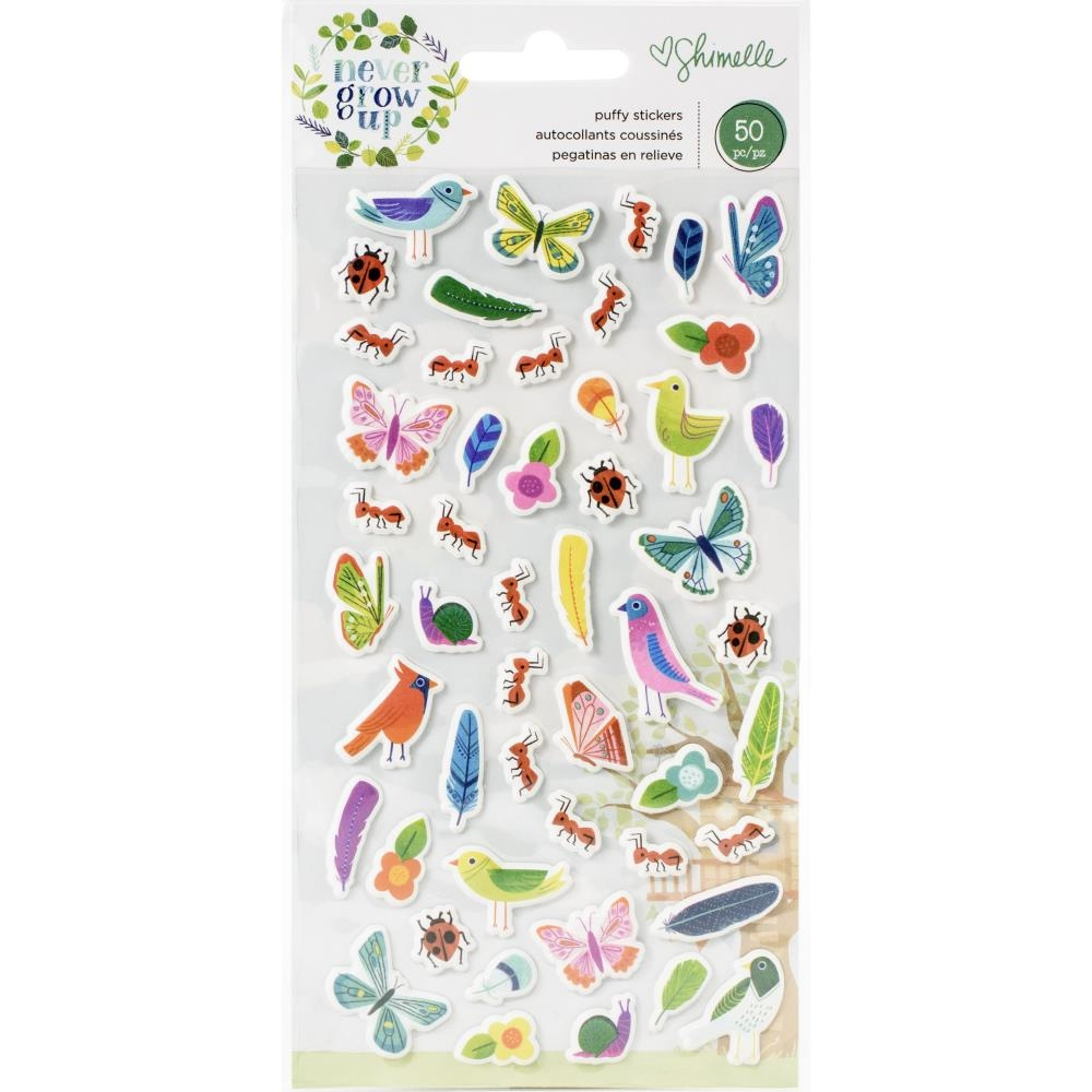 American Crafts Shimelle PUFFY STICKERS NEVER GROW UP 356185 zoom image