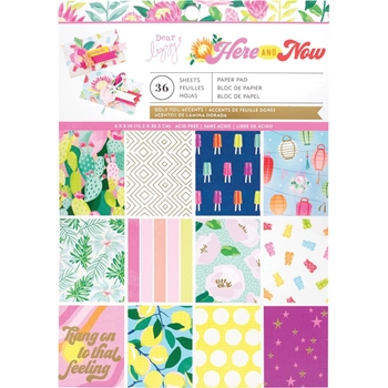 American Crafts Dear Lizzy HERE AND NOW 6 x 8 Inch Paper Pad 356653