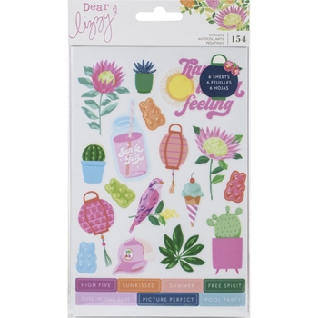 American Crafts Dear Lizzy HERE AND NOW Sticker Book 356665