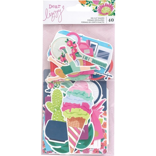 American Crafts Dear Lizzy HERE AND NOW Ephemera Cardstock Die Cuts 356660 Preview Image