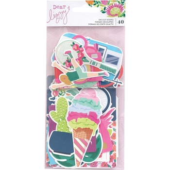 American Crafts Dear Lizzy HERE AND NOW Ephemera Cardstock Die Cuts 356660