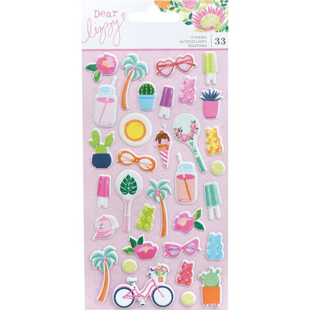 American Crafts Dear Lizzy HERE AND NOW Puffy Stickers 356664 zoom image