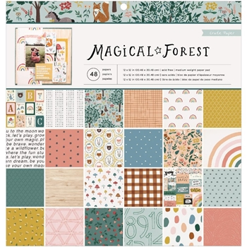 Crate Paper MAGICAL FOREST 12 x 12 Paper Pad 351008