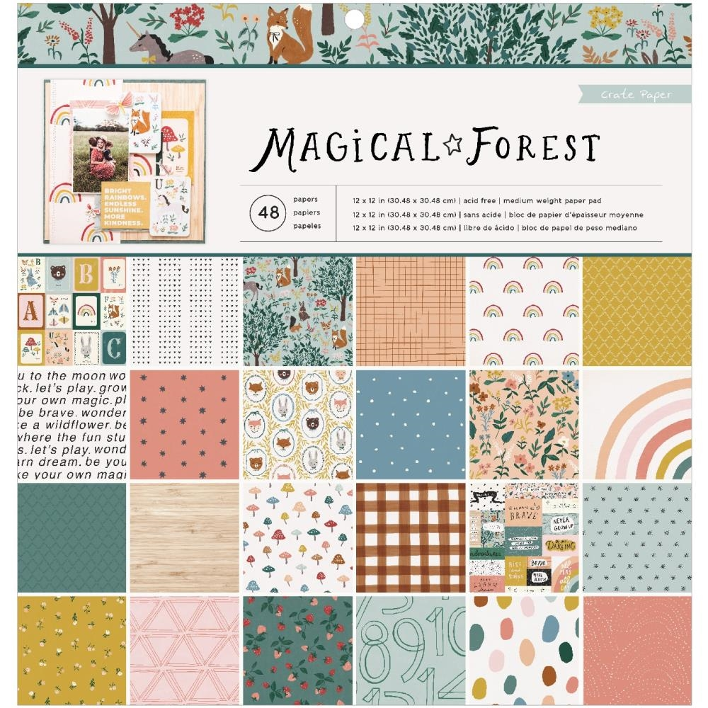 Crate Paper MAGICAL FOREST 12 x 12 Paper Pad 351008 zoom image