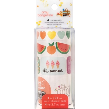 American Crafts Amy Tangerine WASHI TAPE Picnic In The Park 356667