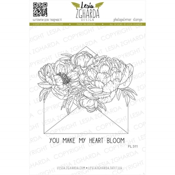 Lesia Zgharda YOU MAKE MY HEART BLOOM Clear Stamps fl311