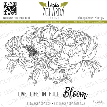 Lesia Zgharda LIVE LIFE IN FULL BLOOM Clear Stamps fl312