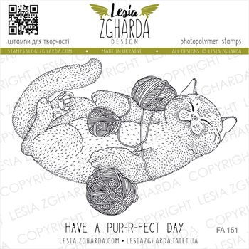 Lesia Zgharda HAVE A PURRFECT DAY Clear Stamps fa151